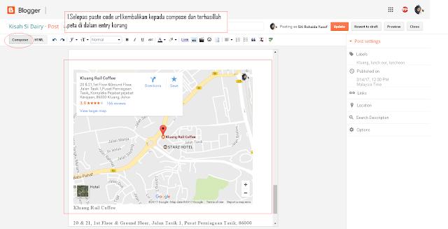 Cara letak Maps didalam Entry