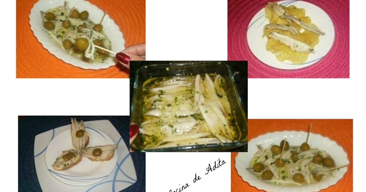 Boquerones en vinagre la cocina de adita - Calorias boquerones en vinagre ...
