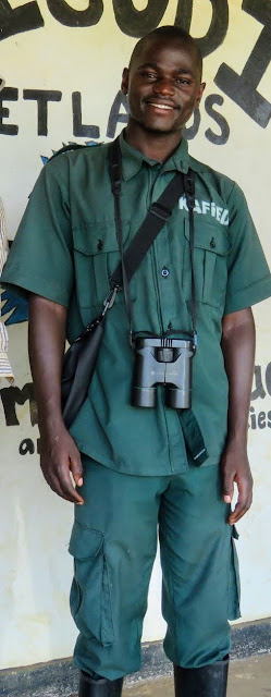 Rogers, our Bigodi Wetlands Guide in Western Uganda