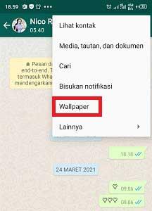 Cara Mengatur Whatsapp Agar Wallpaper Setiap Chat Berbeda