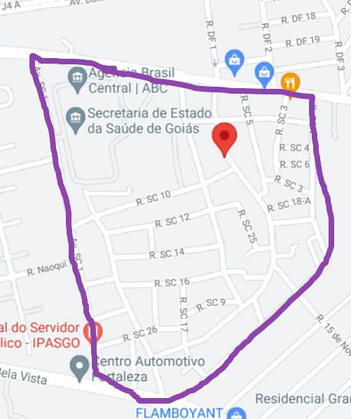Mapa do Parque Santa Cruz