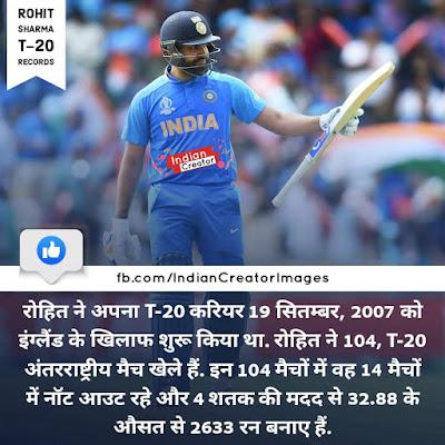Rohit Sharma T20 Records - Rohit Sharma Records