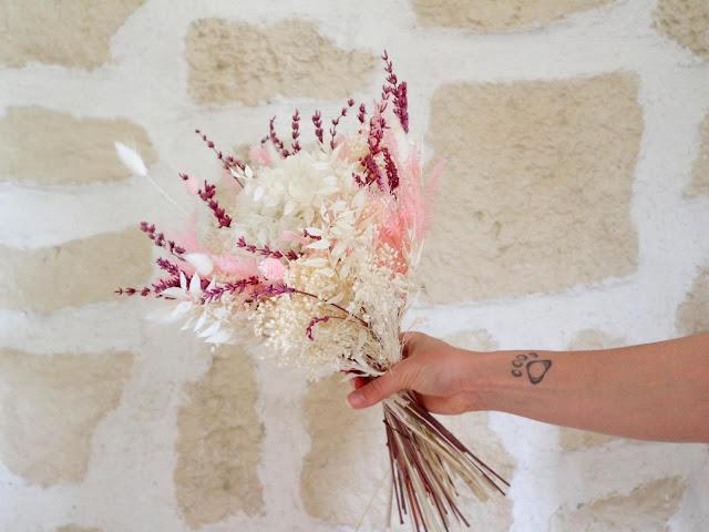 La marque Flowrette propose de jolis bouquets de fleurs séchées.