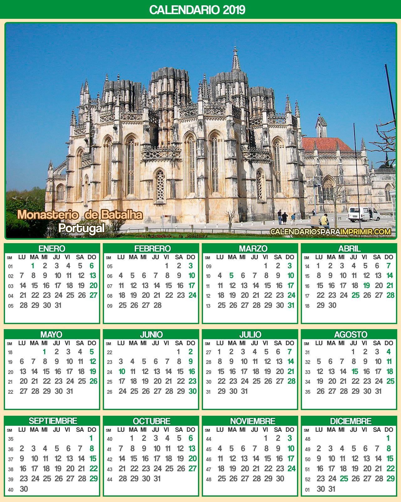 calendario portugal 2019