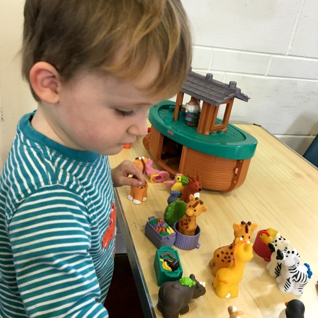 #MySundayPhoto-number-7-toddler-playing-with-an-ark-and-animals