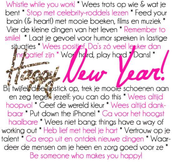 Nieuwjaarswensen Happy New Year Dutch Engels