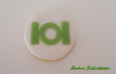 Galletas Green Lantern fondant