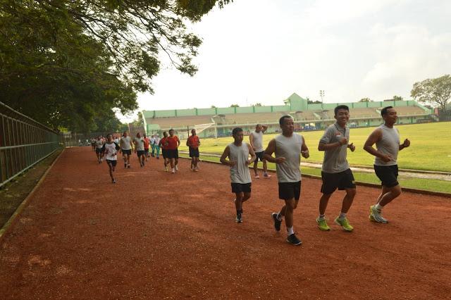 Lari Aerobik Guna Tingkatkan Fisik Prajurit