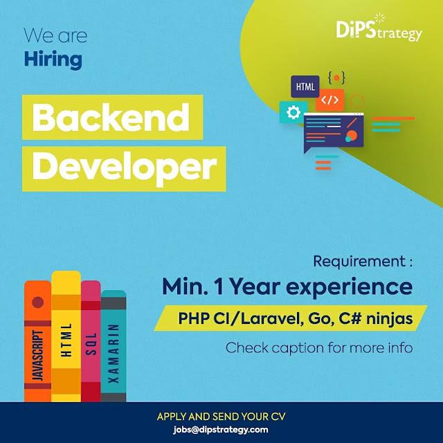 Lowongan Kerja Backend Developer