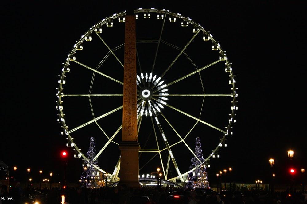 vue de nuit Champs-Elysées