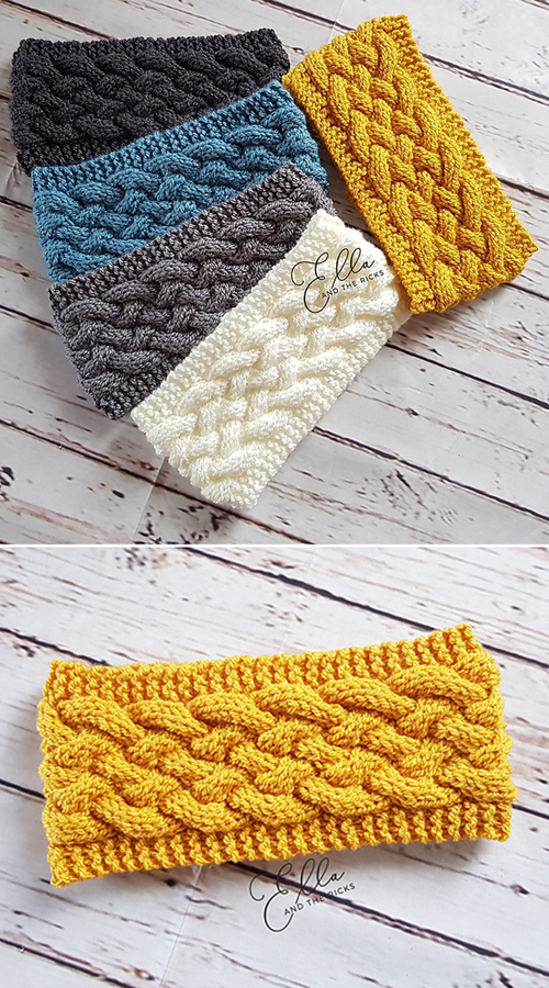 Woven Cable Headband - Free Pattern