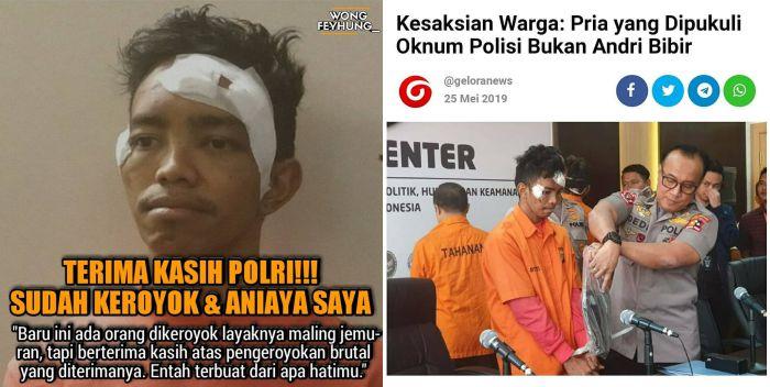 Kesaksian Warga: Pria yang Dipukuli Oknum Polisi Bukan Andri Bibir, Korban Meninggal Lain Namanya Markus