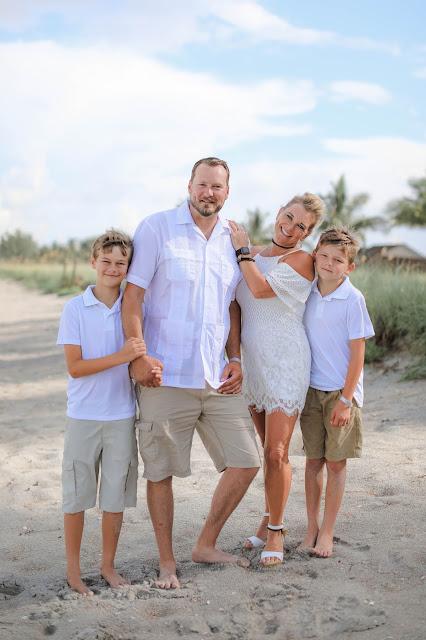 family beach portrait on Captiva