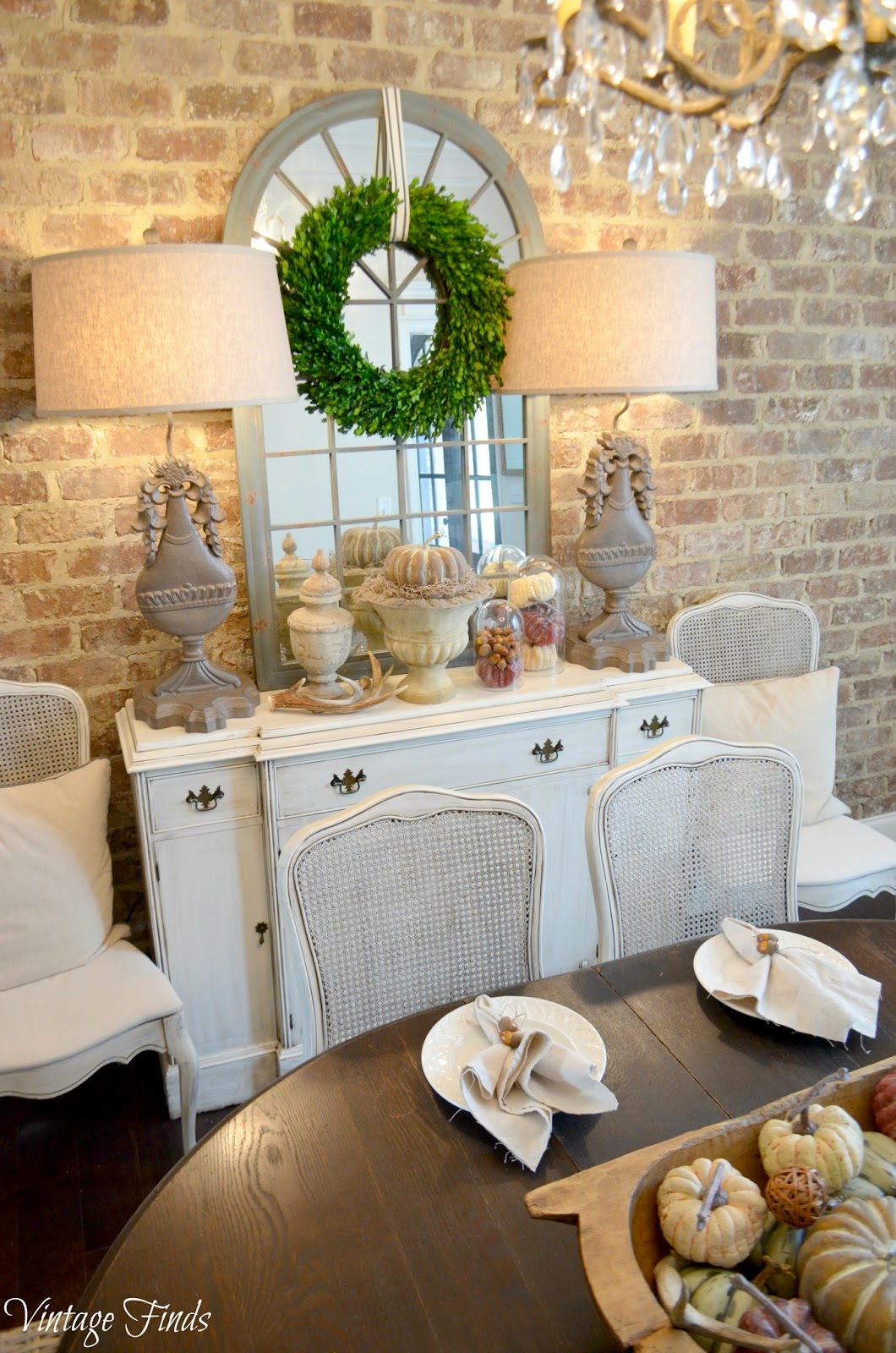 Vintage Finds Fall Dining Room