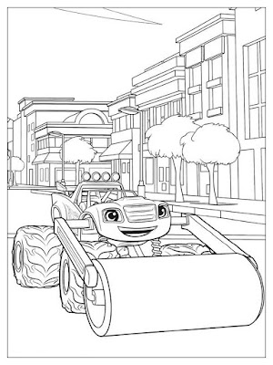 gambar mewarnai anak blaze and the monster machines