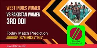 WIW vs PAKW 3rd Womens ODI Match 100% Sure Match Prediction