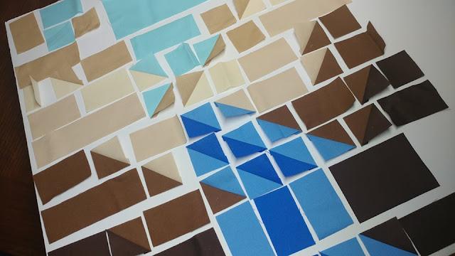 Canyon quilt block pieces