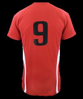 jersey bola polosan png warna merah strip putih - kanalmu