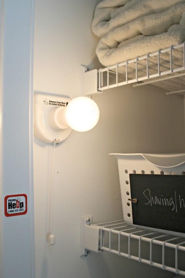 Insta bulb in closet