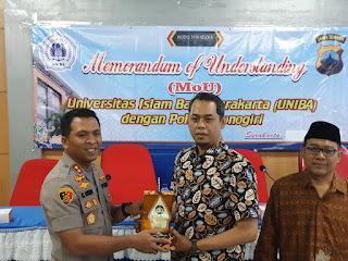 Polres Wonogiri Jalin Kerjasama dengan Uniba Surakarta, Demi Peningkatan Pelayanan Publik