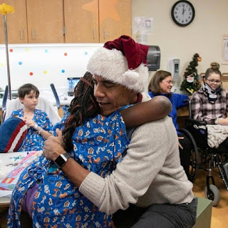 Barack Obama Surprises Patients At Hospitals With Xmas Gifts