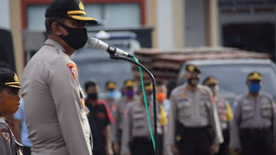 Pimpin Apel Perdana Masuk Kerja, Wakapolres Bone Imbau Personel Tetap Jaga Kesehatan