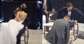 Τίποτα δεν θα τον εμπόδιζε να χορέψει με τη νύφη – Ούτε το αναπηρικό αμαξίδιο