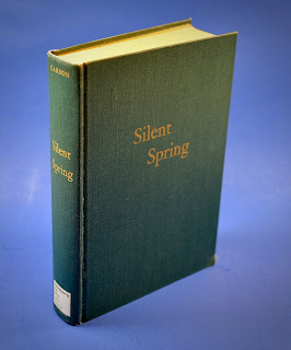Photo of the cover of Rauner Library's first edition of Silent Spring.