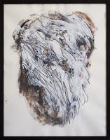 Peinture sur papier 63 x 51 cm