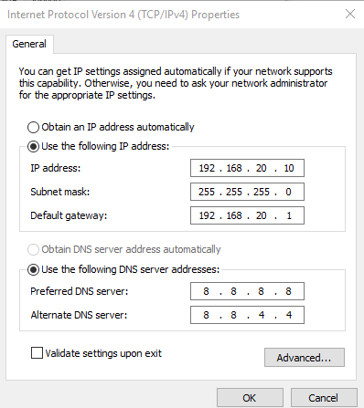 ip address di di windows 10