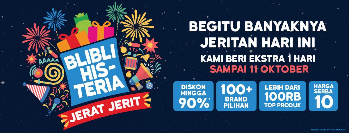 BliBli - Promo BLIBLI HIS-TERIA Jerat Jerit Extended (11 Okt 2018)