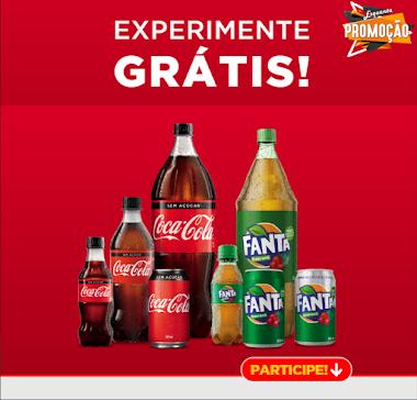 Experimente Coca-cola e Fanta Grátis