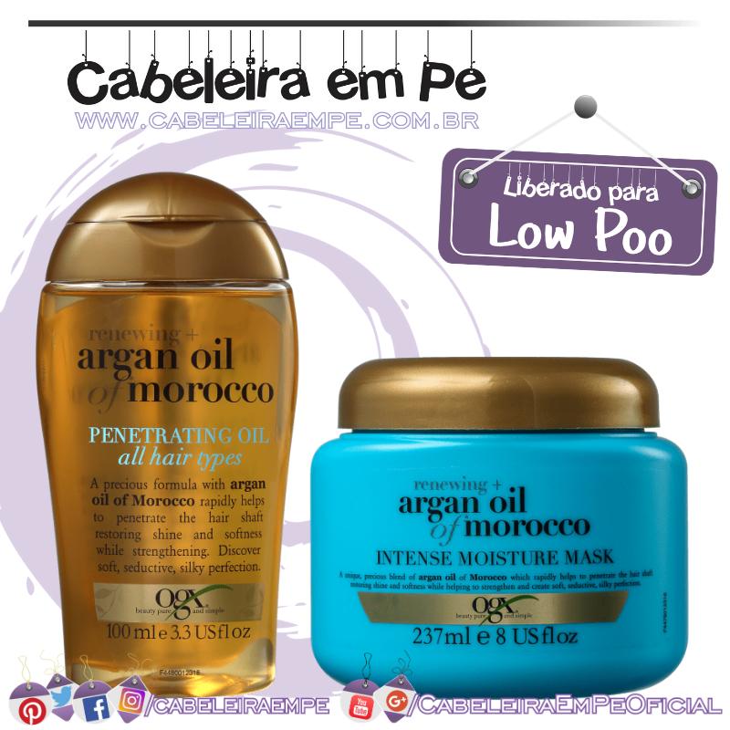 Óleo e Máscara Argan Oil Of Morocco - OGX (Low Poo)