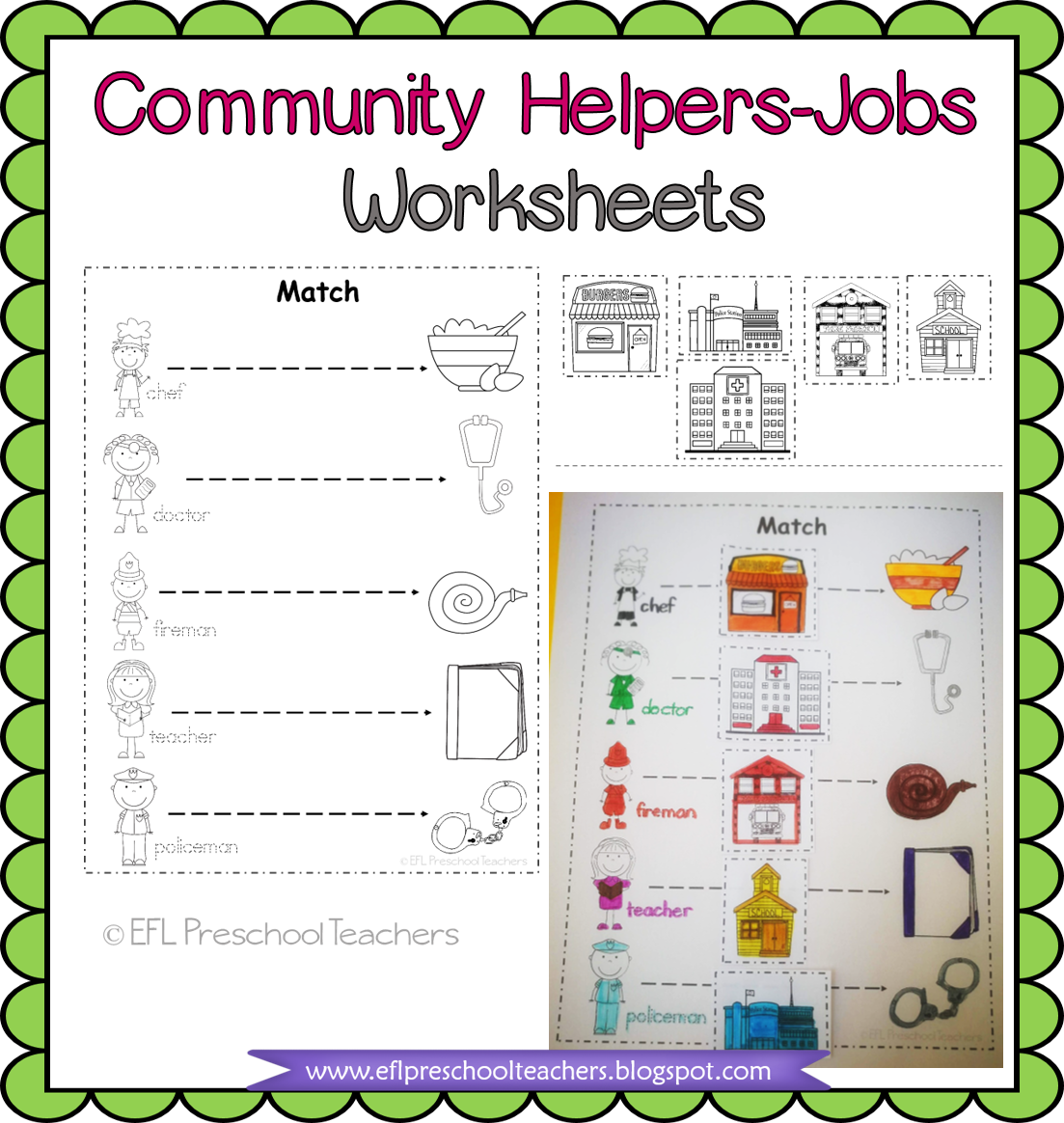 Esl Efl Preschool Teachers Esl Community Helpers