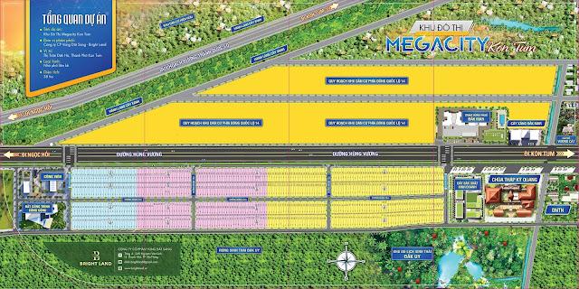 sơ đồ phân lô dự án Mega City KonTum