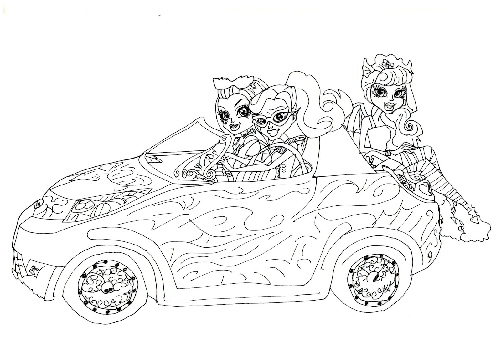 scaris monster high coloring pages - photo#22