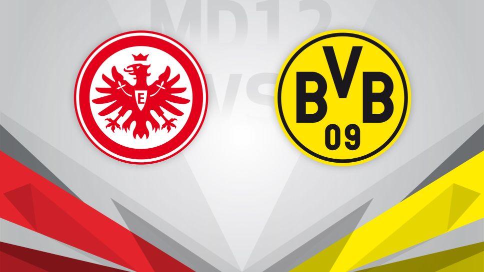 بث مباشر مباراة بوروسيا دورتموند واينتراخت فرانكفورت