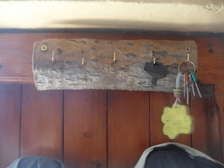 porta chiavi legno fai da te riciclo riuso