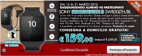 SmartWatch 3 di Sony