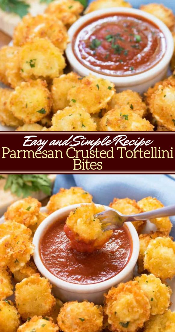 Parmesan Crusted Tortellini Bites #vegan #vegetarian #soup #breakfast #lunch