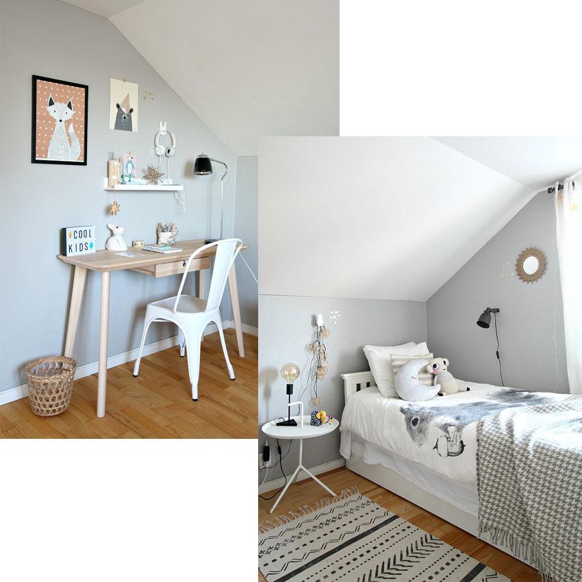 decoración nórdica dormitorio niña