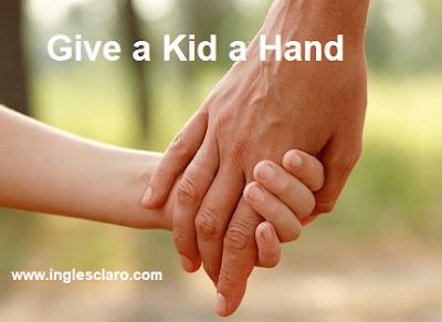Interpretação do texto give a kid a hand