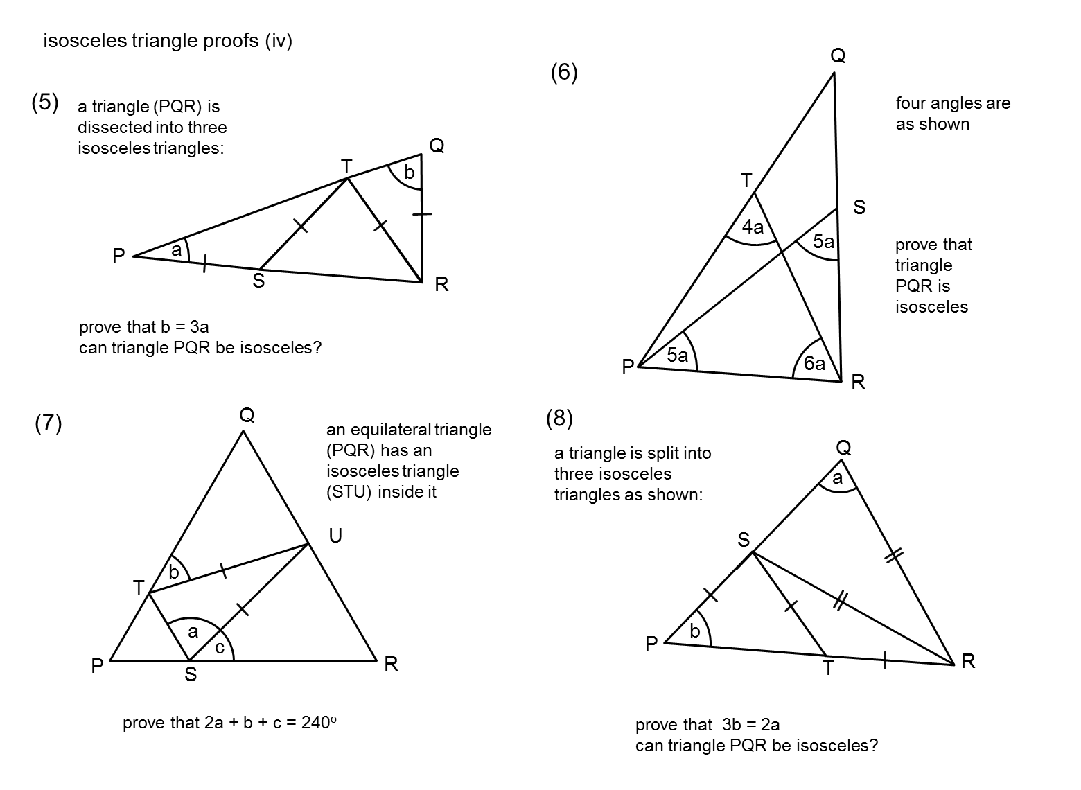 Median Don Steward Mathematics Teaching Isosceles Triangles