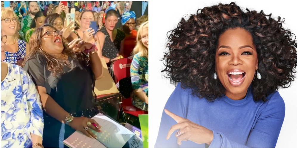 Woman's Reaction to Meeting Oprah At The 2020 Vision Tour Goes Viral