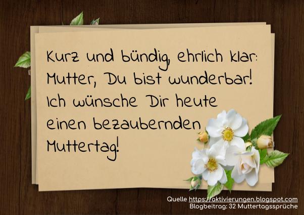 Muttertags Spruch Die Schönsten Sprüche Zum Muttertag