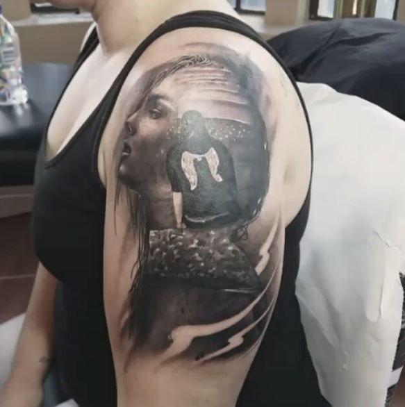 42b3d7758 50+ Best Double Exposure Tattoo Designs (2019) | TattoosBoyGirl