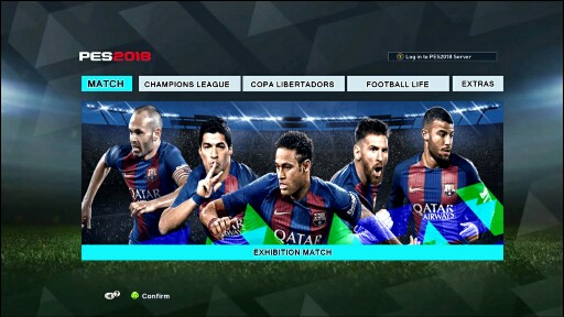 PES 2018 Menu For PES 2013 Updated By Hano