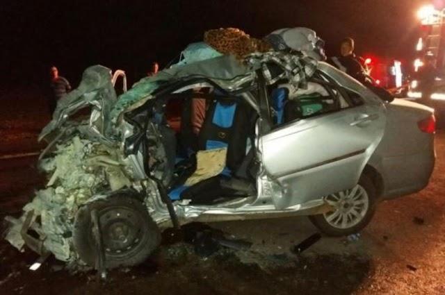 Cinco pessoas da mesma família perdem a vida em acidente