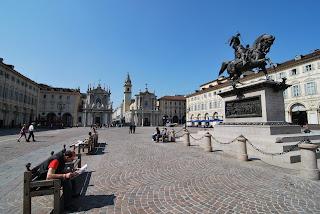 Piazza San Carlo in Turin, looking towards the churches of Santa Cristina and San Carlo