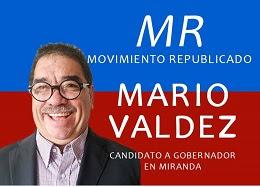 MARIO VALDEZ CANDIDATO A GOBERNAR MIRANDA